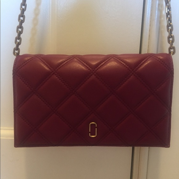 2eb5c89295ffe Marc Jacobs Bags | Double J Leather Chain Wallet | Poshmark